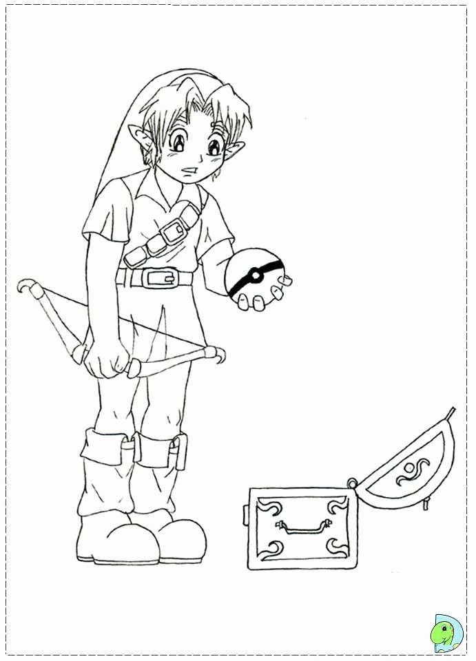 legend of zelda coloring page unique the legend zelda