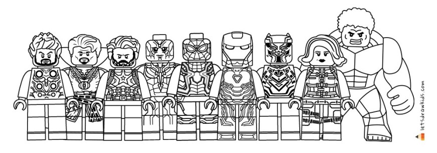 lego avengers infinity war coloring pages printable