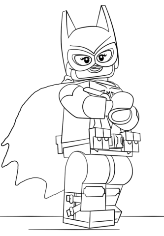 lego batgirl coloring page from the lego batman movie