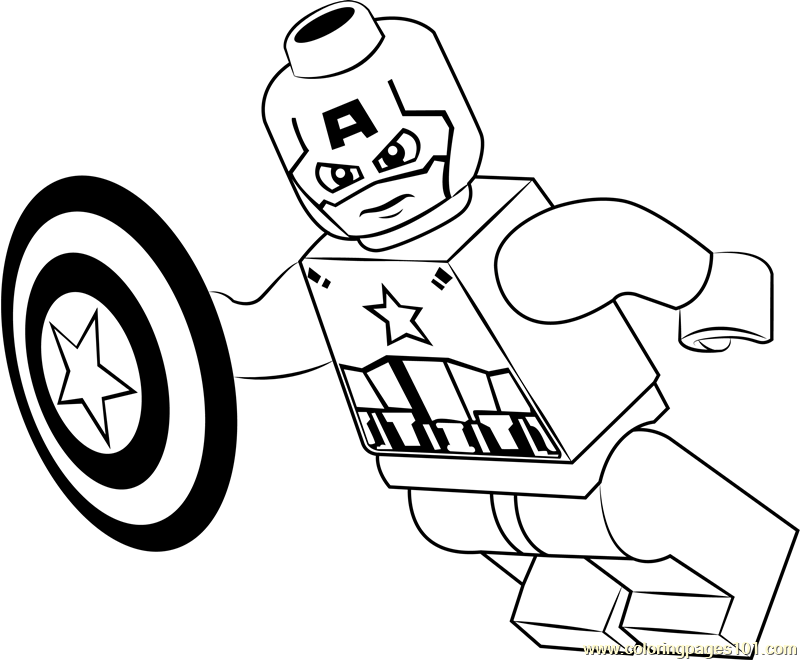 lego captain america coloring page free lego coloring