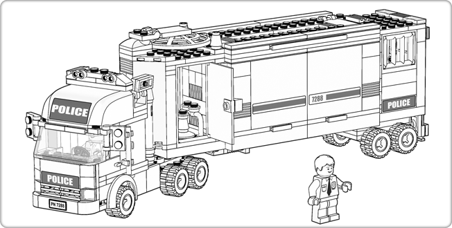lego city downloads coloring pages police truck
