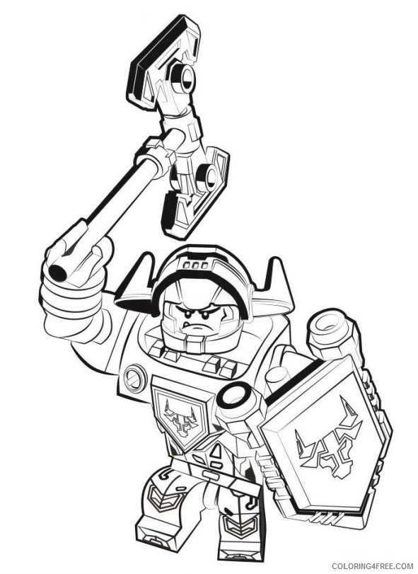 lego coloring pages nexo knights coloring4free