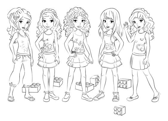 lego friends coloring pages lego pinterest lego