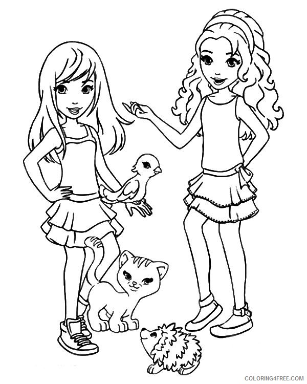 lego friends coloring pages sthepanie and emma coloring4free