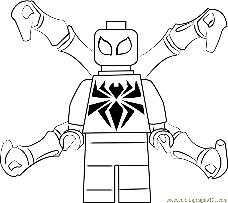 lego iron spider coloring page lego iron spider coloring