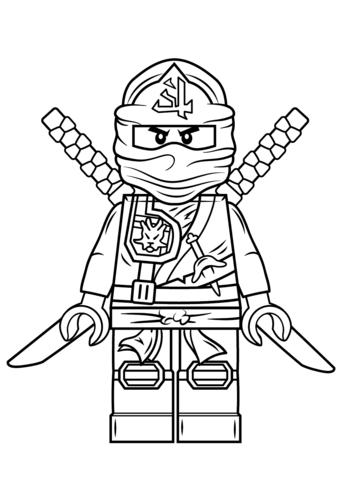lego ninjago green ninja coloring page free printable