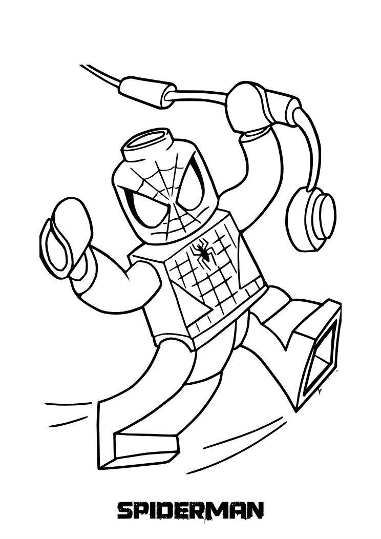 lego spiderman superhelden malvorlagen lego superhelden