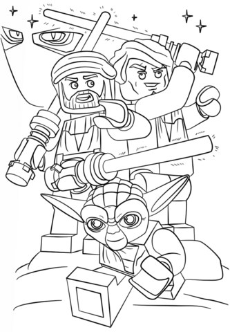 lego star wars clone wars coloring page free printable