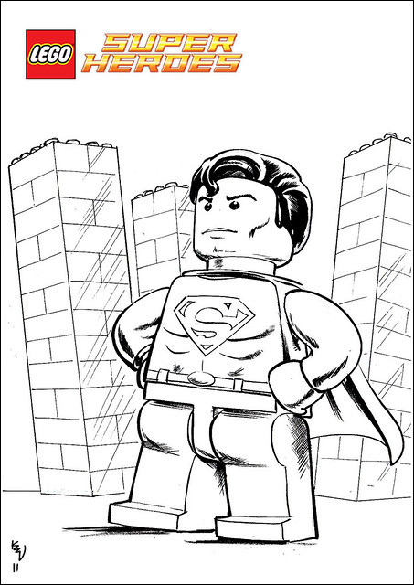 lego superman coloring page best of collection lego superman