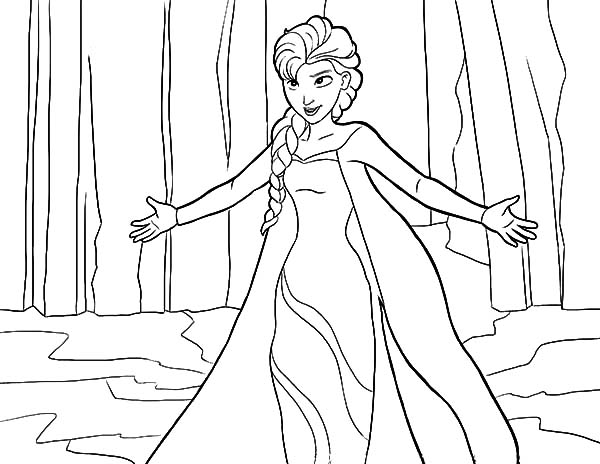 let it go queen elsa coloring pages coloring sky