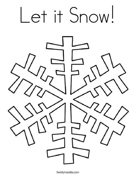let it snow coloring page snowflake coloring pages