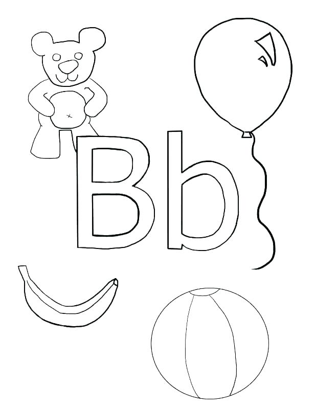 letter b coloring pages at getdrawings free for