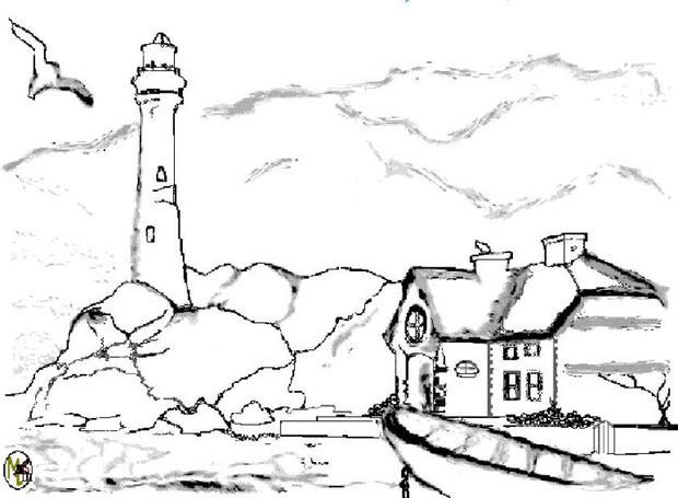 lighthouse coloring pages hellokids