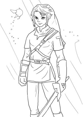 link from legend of zelda coloring page disney prinzessin