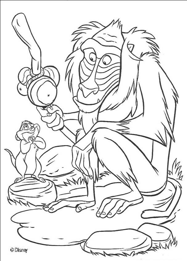 lion king coloring pages rafiki high quality coloring