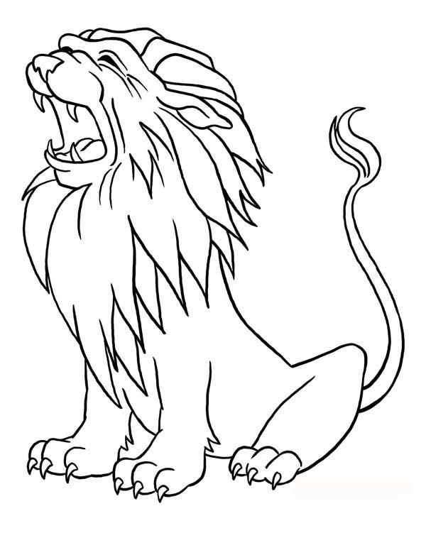 lion lion roaring coloring page lion coloring pages