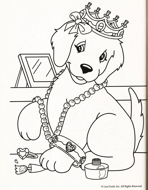 lisa frank coloring page taylor hampton too perfect of