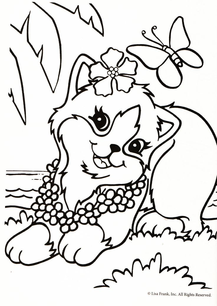 lisa frank inc coloring pages