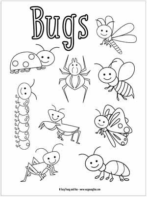 little bugs coloring pages for kids ausdrucken