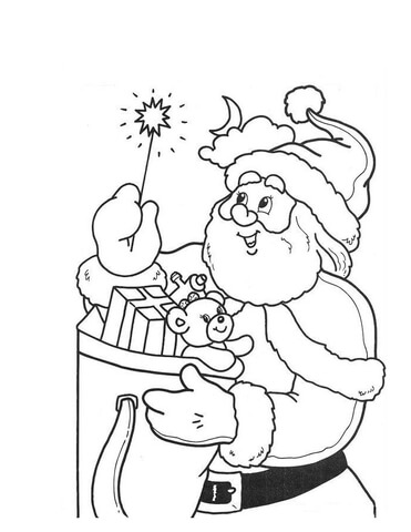 little light of santa coloring page free printable