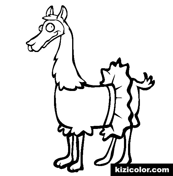 llama in a tutu kizi free coloring pages for children