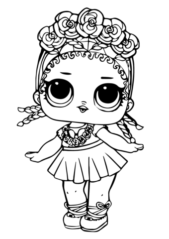 lol doll coconut qt coloring page free printable