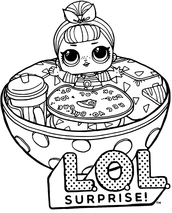 lol surprise doll coloring page to print