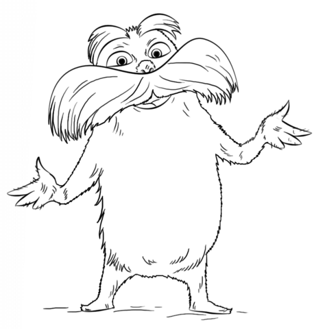 lorax coloring page free printable coloring pages