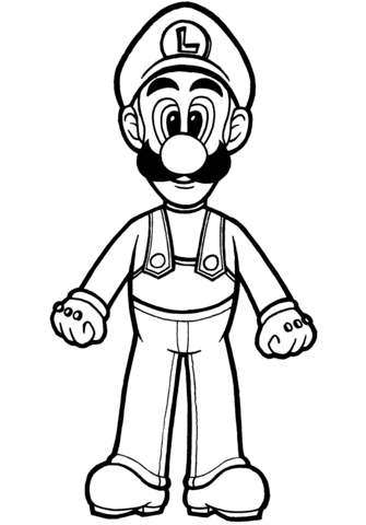 luigi coloring page free printable coloring pages