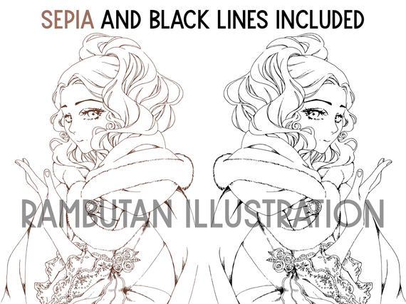 manga coloring pages printable coloring sheets