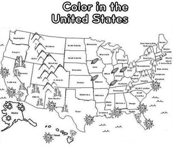 map of united states coloring pages kaigobank