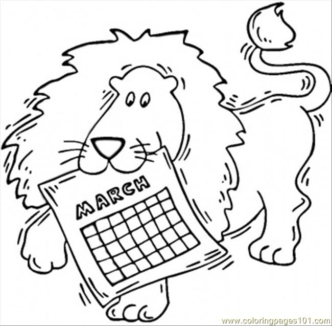 march coloring page free seasons coloring pages