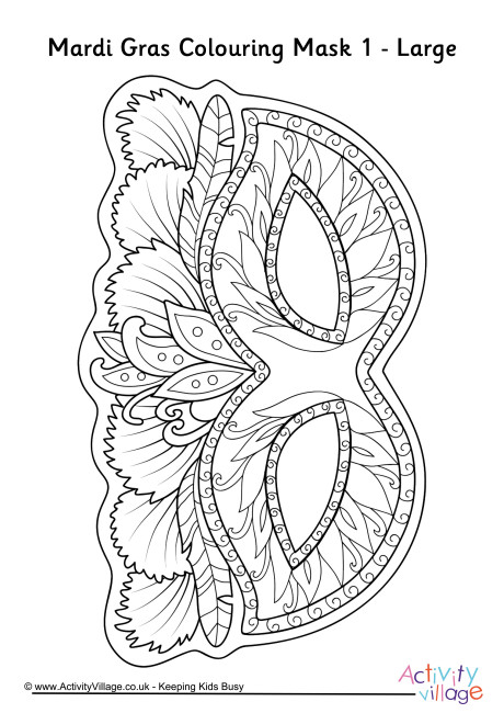 mardi gras colouring pages