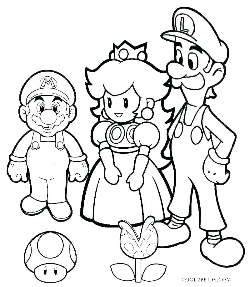 mario and luigi coloring page pages schager