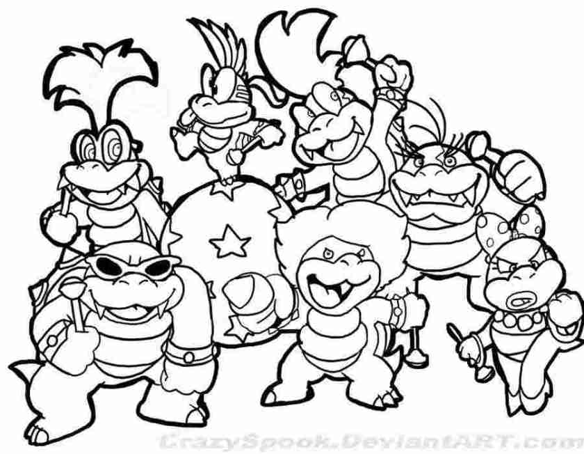 mario enemies coloring pages super mario 3d land coloring