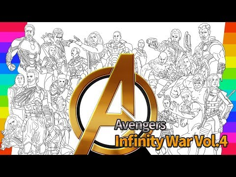 marvel avengers infinity war coloring movie how to draw