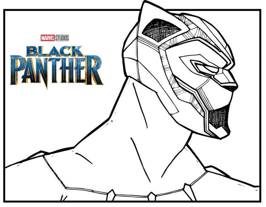 marvel black panther coloring page black panther black