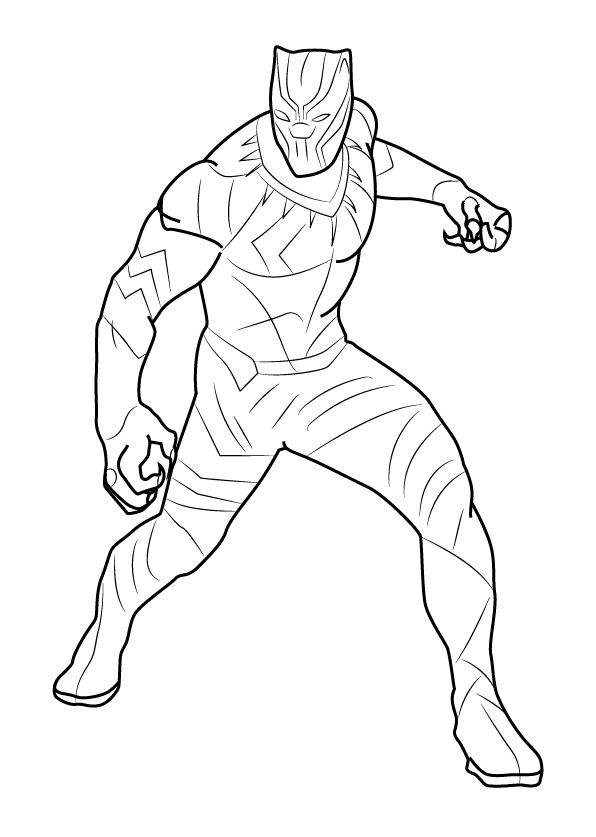 marvel black panther coloring page free printable coloring