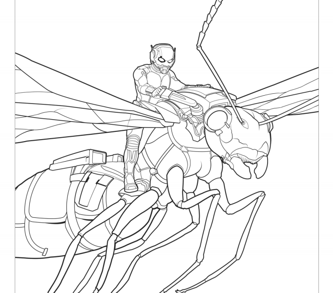 marvels ant man coloring pages lovebugs and postcards