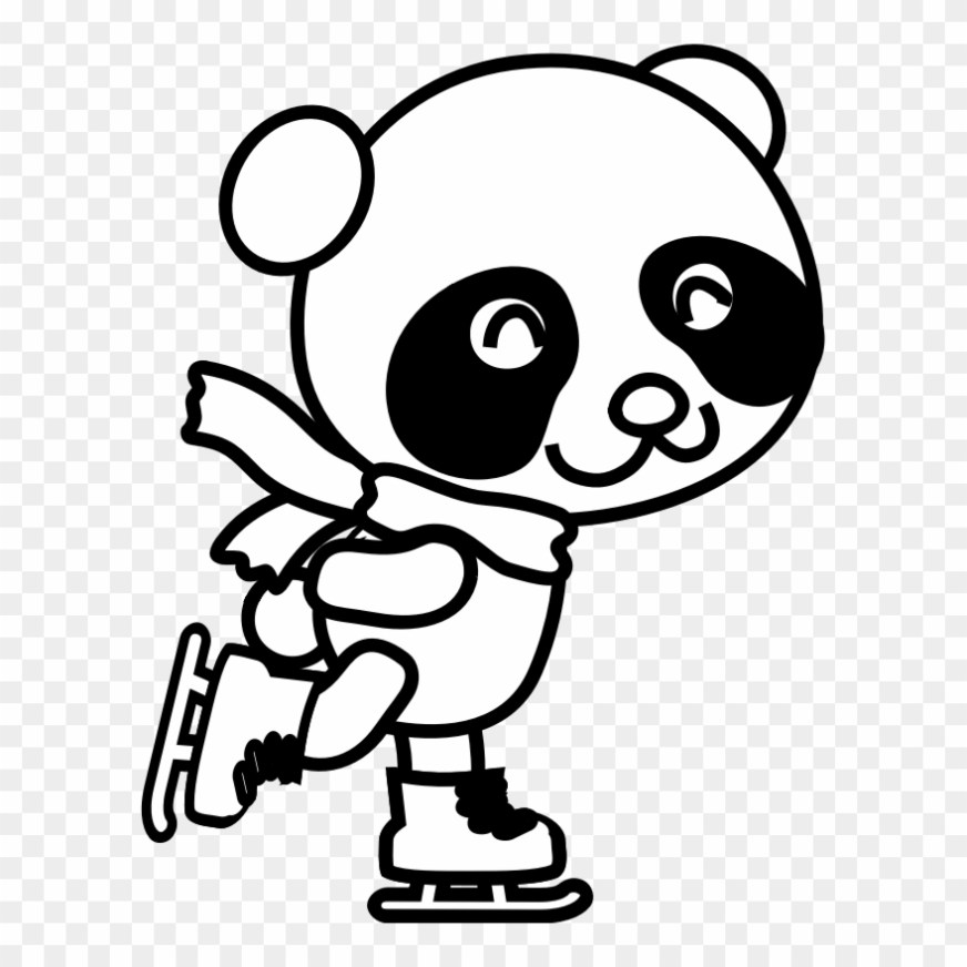 medium image christmas panda coloring pages clipart