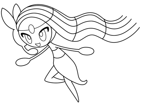 meloetta coloring page free printable coloring pages