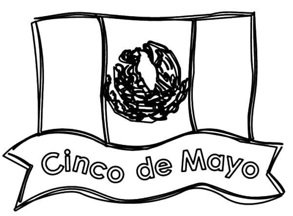 mexico flag printables mexican flag cinco de mayo coloring
