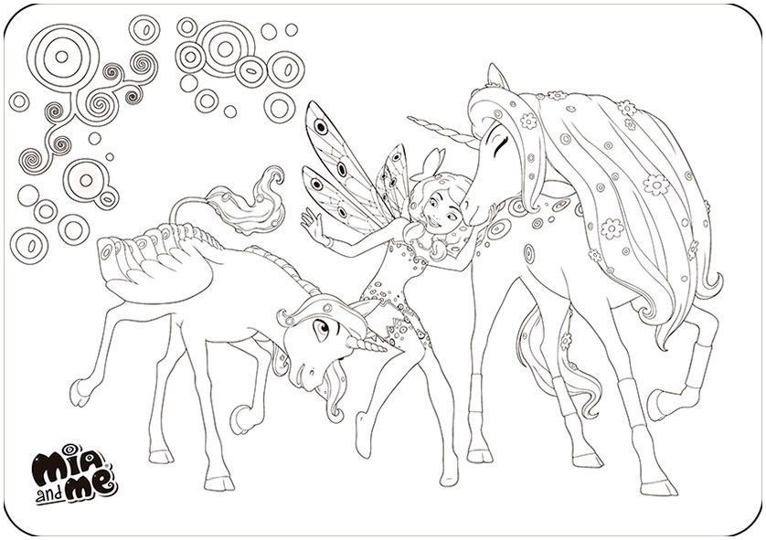 mia and me ausmalbilder of mia and me coloring pages unique