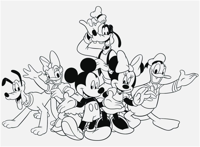 Cartoon Printable Mickey Mouse Christmas Coloring Pages Sweet adult | 609x827