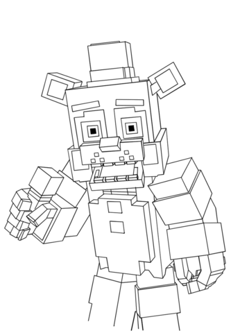 minecraft freddy coloring page free printable coloring pages