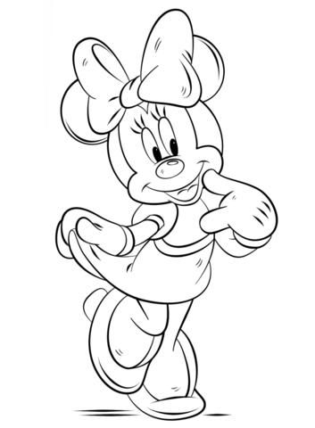 minnie mouse coloring page free printable coloring pages