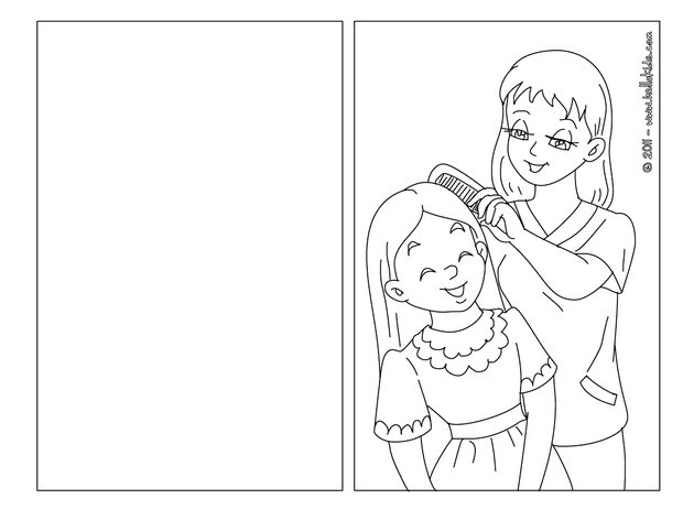mom and daughter coloring pages hellokids