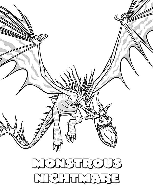 monstrous nightmare in how to train your dragon coloring