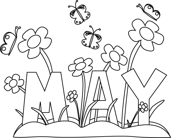 month of may clip art month of may flowers clip art