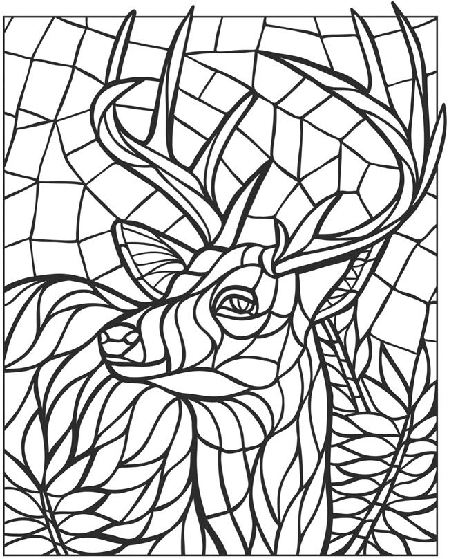 mosaic coloring pages gallery fun for kids